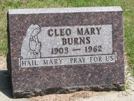 BURNS, CLEO MARY - Gregory County, South Dakota | CLEO MARY BURNS - South Dakota Gravestone Photos