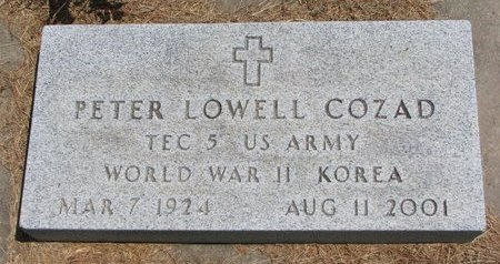 COZAD, PETER LOWELL - Gregory County, South Dakota | PETER LOWELL COZAD - South Dakota Gravestone Photos