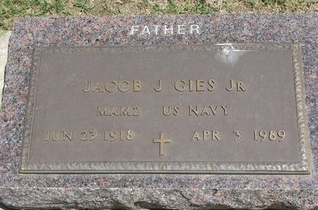 GIES, JACOB J. JR. - Gregory County, South Dakota | JACOB J. JR. GIES - South Dakota Gravestone Photos