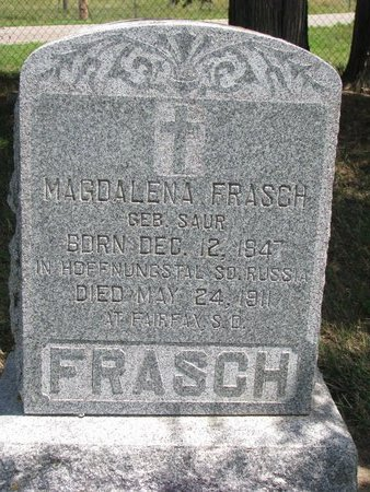 SAUR FRASCH, MAGDALENA - Gregory County, South Dakota | MAGDALENA SAUR FRASCH - South Dakota Gravestone Photos