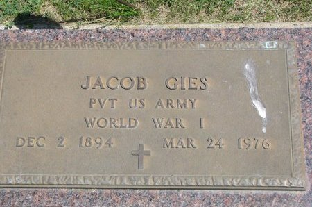 GIES, JACOB - Gregory County, South Dakota | JACOB GIES - South Dakota Gravestone Photos