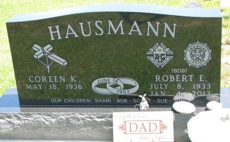 HAUSMANN, COREEN K. - Gregory County, South Dakota | COREEN K. HAUSMANN - South Dakota Gravestone Photos