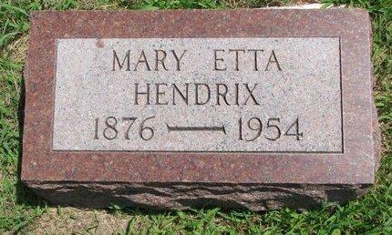 HENDRIX, MARY ETTA - Gregory County, South Dakota | MARY ETTA HENDRIX - South Dakota Gravestone Photos
