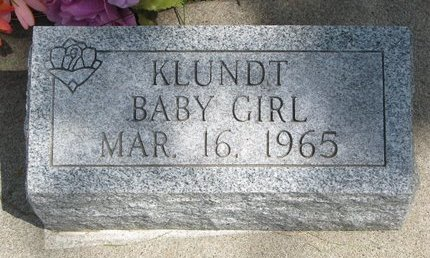 KLUNDT, BABY GIRL - Gregory County, South Dakota | BABY GIRL KLUNDT - South Dakota Gravestone Photos