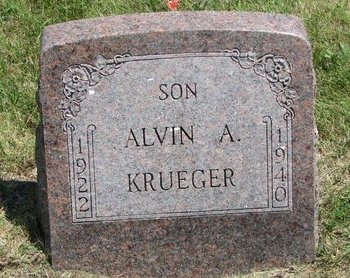 KRUEGER, ALVIN A. - Gregory County, South Dakota | ALVIN A. KRUEGER - South Dakota Gravestone Photos