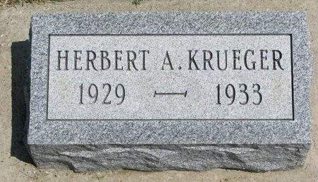 KRUEGER, HERBERT A. - Gregory County, South Dakota | HERBERT A. KRUEGER - South Dakota Gravestone Photos
