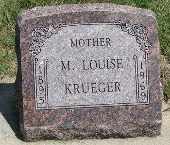 KRUEGER, M. LOUISE - Gregory County, South Dakota | M. LOUISE KRUEGER - South Dakota Gravestone Photos