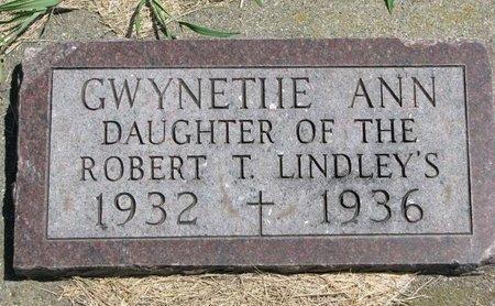 LINDLEY, GWYNETIIE ANN - Gregory County, South Dakota | GWYNETIIE ANN LINDLEY - South Dakota Gravestone Photos