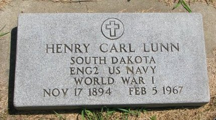 LUNN, HENRY CARL (MILITARY) - Gregory County, South Dakota | HENRY CARL (MILITARY) LUNN - South Dakota Gravestone Photos