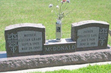 MCDONALD, FRANCIS EARL - Gregory County, South Dakota | FRANCIS EARL MCDONALD - South Dakota Gravestone Photos