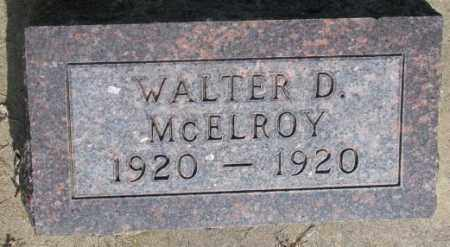 MCELROY, WALTER D. - Gregory County, South Dakota   WALTER D. MCELROY - South Dakota Gravestone Photos