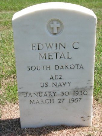 METAL, EDWIN C. (MILITARY) - Gregory County, South Dakota | EDWIN C. (MILITARY) METAL - South Dakota Gravestone Photos