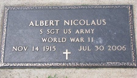NICOLAUS, ALBERT (MILITARY) - Gregory County, South Dakota | ALBERT (MILITARY) NICOLAUS - South Dakota Gravestone Photos