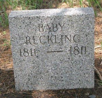 RECKLING, BABY - Gregory County, South Dakota | BABY RECKLING - South Dakota Gravestone Photos