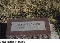 REDMOND, BERT - Gregory County, South Dakota   BERT REDMOND - South Dakota Gravestone Photos