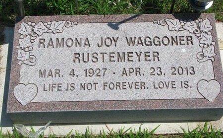 WAGGONER RUSTEMEYER, RAMONA JOY - Gregory County, South Dakota | RAMONA JOY WAGGONER RUSTEMEYER - South Dakota Gravestone Photos