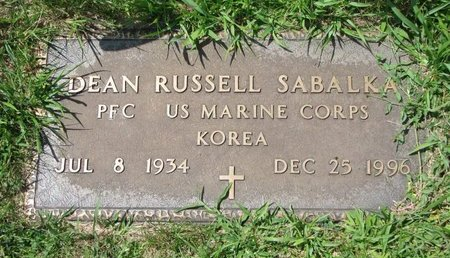SABALKA, DEAN RUSSELL (MILITARY) - Gregory County, South Dakota   DEAN RUSSELL (MILITARY) SABALKA - South Dakota Gravestone Photos