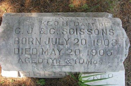 SCISSONS, KEO H. - Gregory County, South Dakota   KEO H. SCISSONS - South Dakota Gravestone Photos