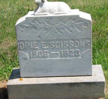 SCISSONS, OPIE E. - Gregory County, South Dakota | OPIE E. SCISSONS - South Dakota Gravestone Photos
