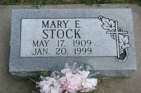 STOCK, MARY E. - Gregory County, South Dakota   MARY E. STOCK - South Dakota Gravestone Photos