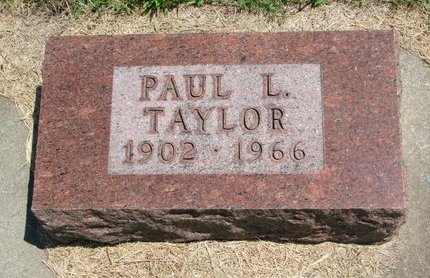 TAYLOR, PAUL L. - Gregory County, South Dakota | PAUL L. TAYLOR - South Dakota Gravestone Photos