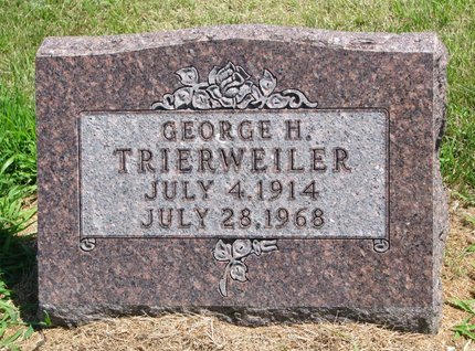 TRIERWEILER, GEORGE H. - Gregory County, South Dakota | GEORGE H. TRIERWEILER - South Dakota Gravestone Photos
