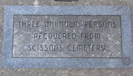 *UNKNOWN 3 PERSONS, SCISSONS CEMETERY - Gregory County, South Dakota   SCISSONS CEMETERY *UNKNOWN 3 PERSONS - South Dakota Gravestone Photos