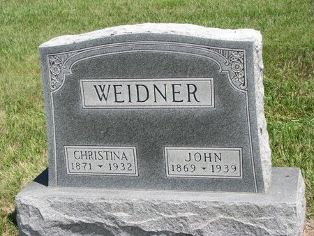WEIDNER, JOHN - Gregory County, South Dakota | JOHN WEIDNER - South Dakota Gravestone Photos