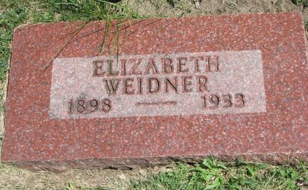 WEIDNER, ELIZABETH - Gregory County, South Dakota | ELIZABETH WEIDNER - South Dakota Gravestone Photos