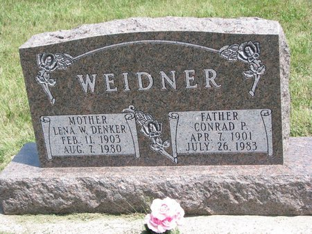 DENKER WEIDNER, LENA W. - Gregory County, South Dakota | LENA W. DENKER WEIDNER - South Dakota Gravestone Photos