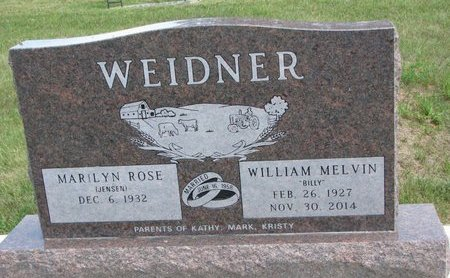 JENSEN WEIDNER, MARILYN ROSE - Gregory County, South Dakota | MARILYN ROSE JENSEN WEIDNER - South Dakota Gravestone Photos