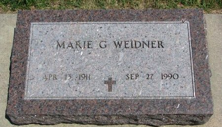 WEIDNER, MARIE GOTTLIBENA - Gregory County, South Dakota | MARIE GOTTLIBENA WEIDNER - South Dakota Gravestone Photos