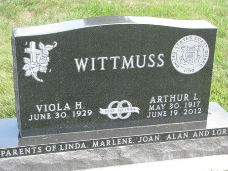 WITTMUSS, VIOLA H. - Gregory County, South Dakota | VIOLA H. WITTMUSS - South Dakota Gravestone Photos