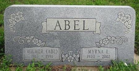"ABEL, WILMER ""ABE"" - Haakon County, South Dakota | WILMER ""ABE"" ABEL - South Dakota Gravestone Photos"