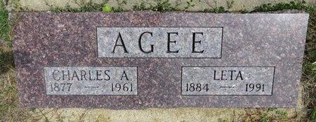 AGEE, CHARLES - Haakon County, South Dakota | CHARLES AGEE - South Dakota Gravestone Photos