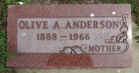 ANDERSON, OLIVE - Haakon County, South Dakota   OLIVE ANDERSON - South Dakota Gravestone Photos