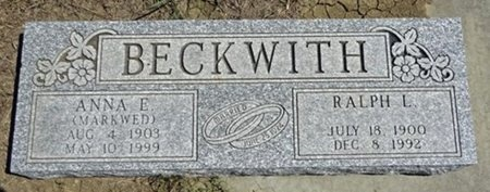 BECKWITH, ANNA - Haakon County, South Dakota | ANNA BECKWITH - South Dakota Gravestone Photos