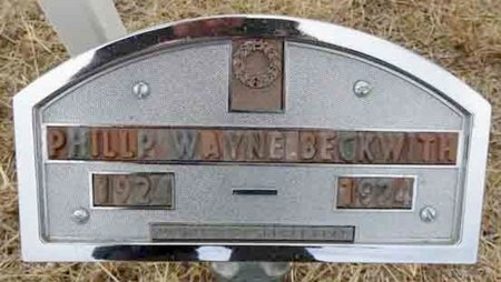 WAYNE BECKWITH, PHILLP - Haakon County, South Dakota | PHILLP WAYNE BECKWITH - South Dakota Gravestone Photos
