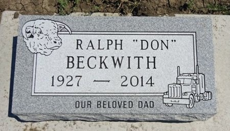 "BECKWITH, RALPH ""DON"" - Haakon County, South Dakota   RALPH ""DON"" BECKWITH - South Dakota Gravestone Photos"