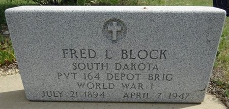 BLOCK, FRED - Haakon County, South Dakota | FRED BLOCK - South Dakota Gravestone Photos