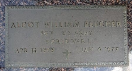BLUCHER, ALGOT - Haakon County, South Dakota   ALGOT BLUCHER - South Dakota Gravestone Photos