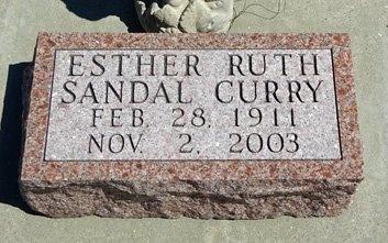 SANDAL CURRY, ESTHER - Haakon County, South Dakota   ESTHER SANDAL CURRY - South Dakota Gravestone Photos