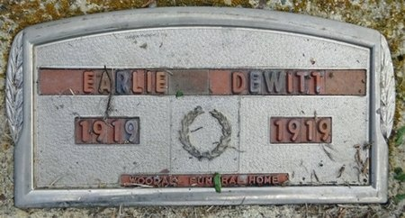 DEWITT, EARLIE - Haakon County, South Dakota | EARLIE DEWITT - South Dakota Gravestone Photos