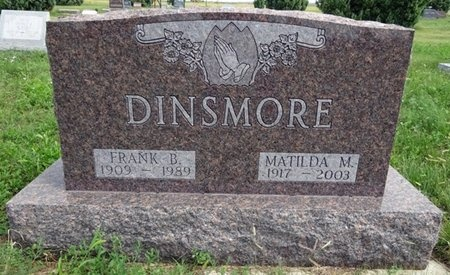 DINSMORE, MATILDA - Haakon County, South Dakota   MATILDA DINSMORE - South Dakota Gravestone Photos
