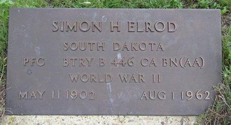 ELROD, SIMON - Haakon County, South Dakota | SIMON ELROD - South Dakota Gravestone Photos