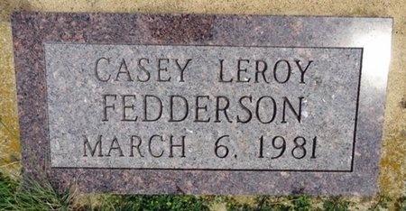 FEDDERSON, CASEY - Haakon County, South Dakota | CASEY FEDDERSON - South Dakota Gravestone Photos