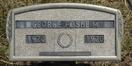 FOSHEIM, GEORGE - Haakon County, South Dakota | GEORGE FOSHEIM - South Dakota Gravestone Photos