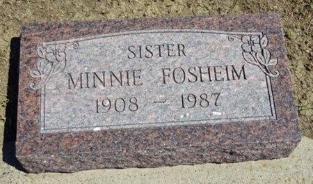 FOSHEIM, MINNIE - Haakon County, South Dakota | MINNIE FOSHEIM - South Dakota Gravestone Photos