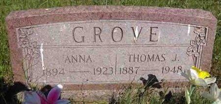 GROVE, ANNA - Haakon County, South Dakota | ANNA GROVE - South Dakota Gravestone Photos