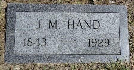 HAND, J.M. - Haakon County, South Dakota   J.M. HAND - South Dakota Gravestone Photos